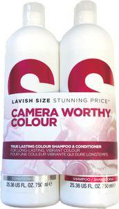 Tigi S-Factor True Lasting Colour Tweens Tuplapakkaus shampoo & hoitoaine (750 ml)
