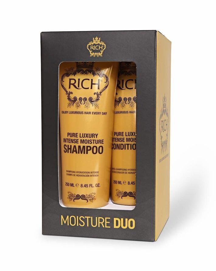 RICH Pure Luxury Intense Moisture Shampoo ja Hoitoaine DUO kit